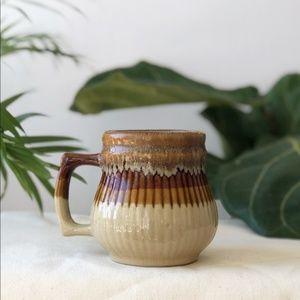 Vintage 70's Stoneware Ceramic Mug Earth Tones